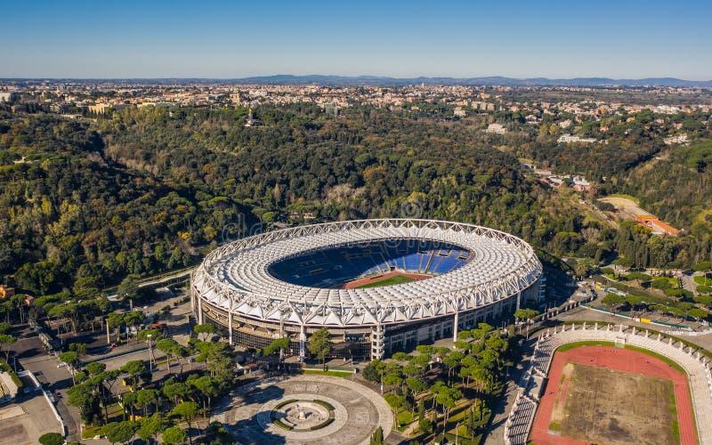 Widok z lotu ptaka Stadio Olimpico obraz royalty free