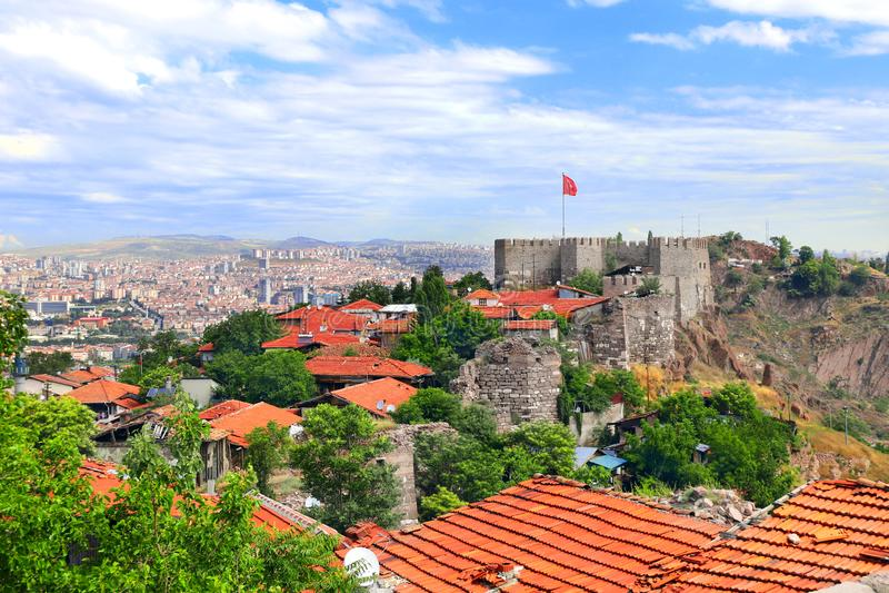 Widok z lotu ptaka stolica Ankara, Turcja obrazy stock