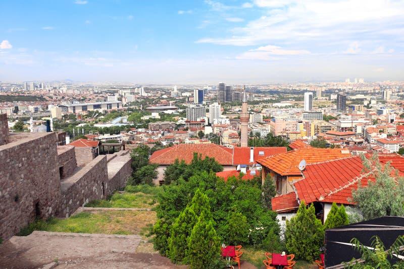Widok z lotu ptaka stolica Ankara, Turcja zdjęcia royalty free