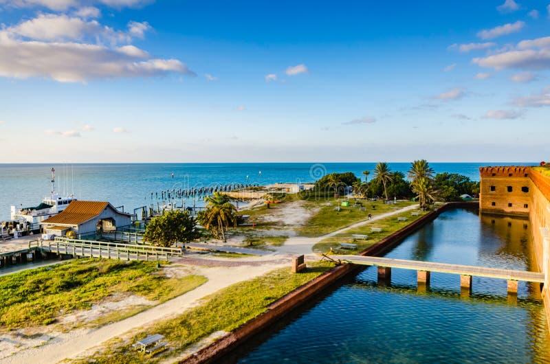 Widok Z Lotu Ptaka - Suchy Tortugas park narodowy obraz royalty free