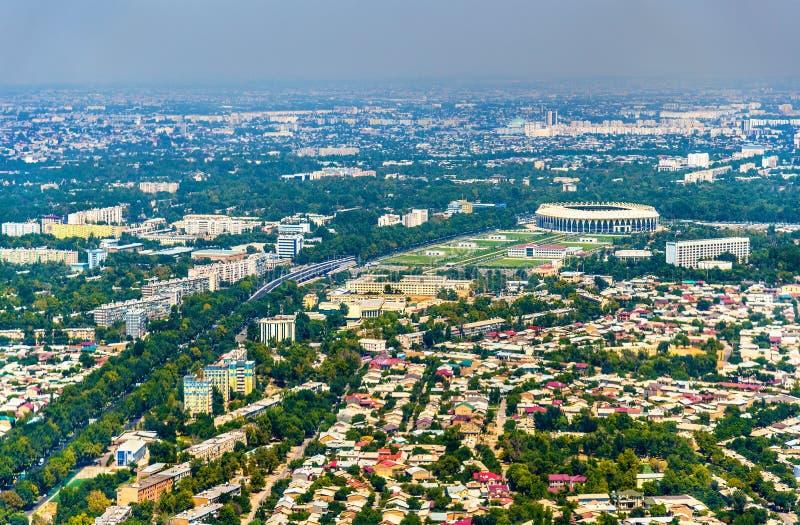 Widok z lotu ptaka Tashkent w Uzbekistan fotografia royalty free