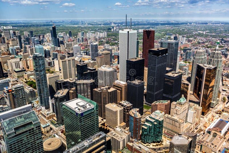 Widok z lotu ptaka Toronto linia horyzontu obrazy royalty free