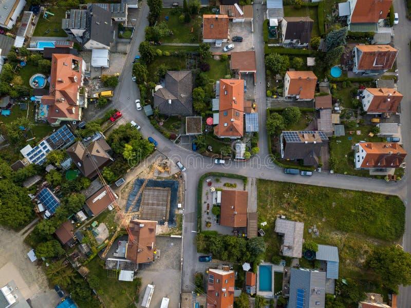 Widok z lotu ptaka tradycyjna wioska w Niemcy fotografia royalty free