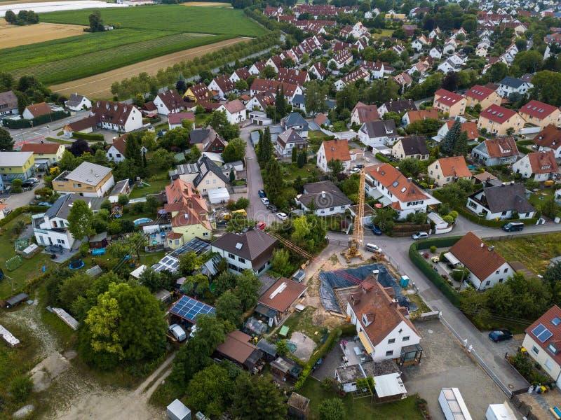 Widok z lotu ptaka tradycyjna wioska w Niemcy obrazy stock