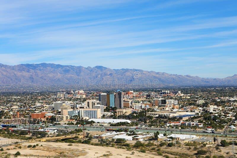 Widok z lotu ptaka Tucson, Arizona obrazy royalty free