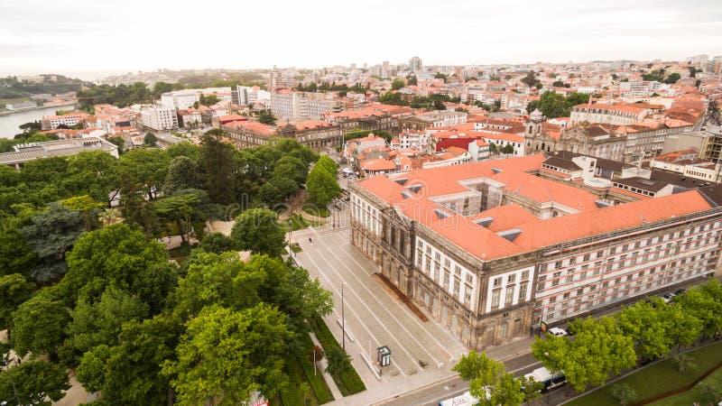 Widok z lotu ptaka uniwersytet Porto, Portugalia obraz royalty free