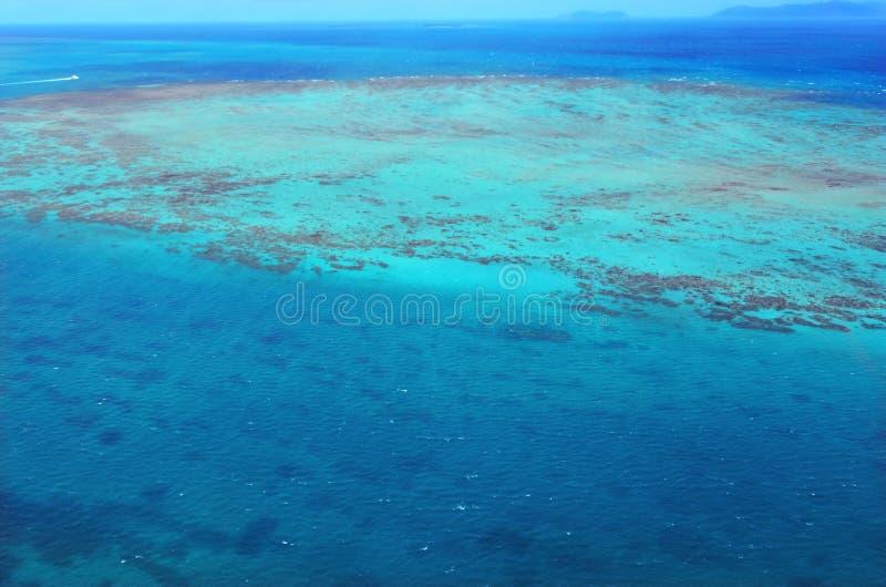Widok z lotu ptaka Upolu rafa koralowa przy Wielką bariery rafy królową fotografia stock