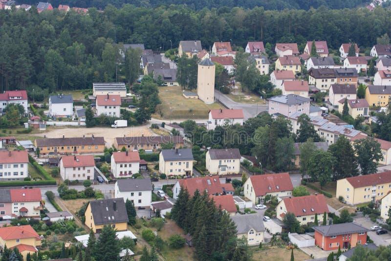 Widok z lotu ptaka w bavaria fotografia stock