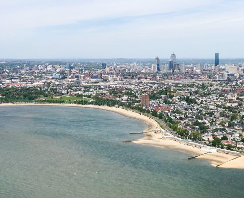 Widok Z Lotu Ptaka W centrum Boston, MA zdjęcia royalty free