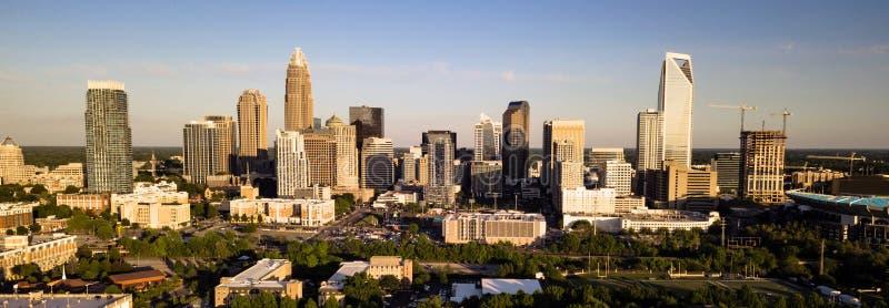 Widok Z Lotu Ptaka W centrum miasto linia horyzontu Charlotte Pólnocna Karolina fotografia stock