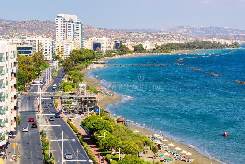 Widok z lotu ptaka w centrum na Limassol, Cypr zdjęcie royalty free