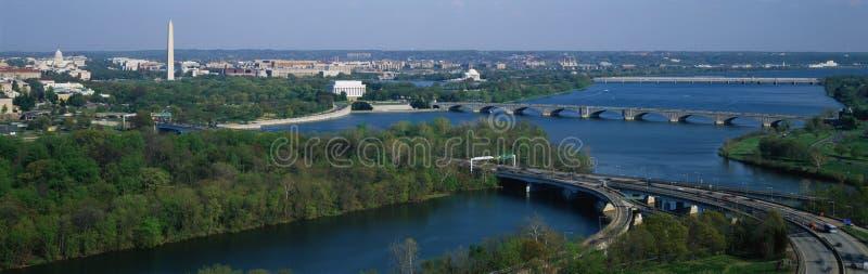 Widok z lotu ptaka Waszyngton fotografia royalty free