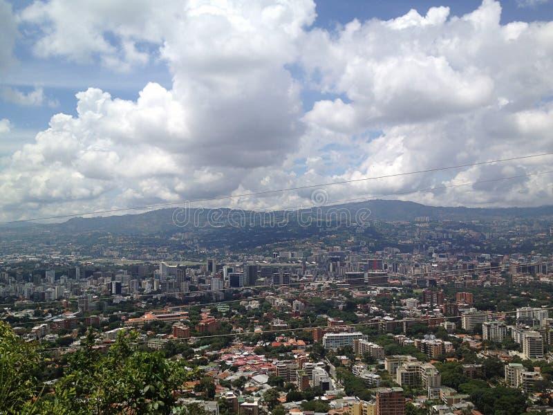 Widok z lotu ptaka Wenezuela stolica Caracas zdjęcia royalty free