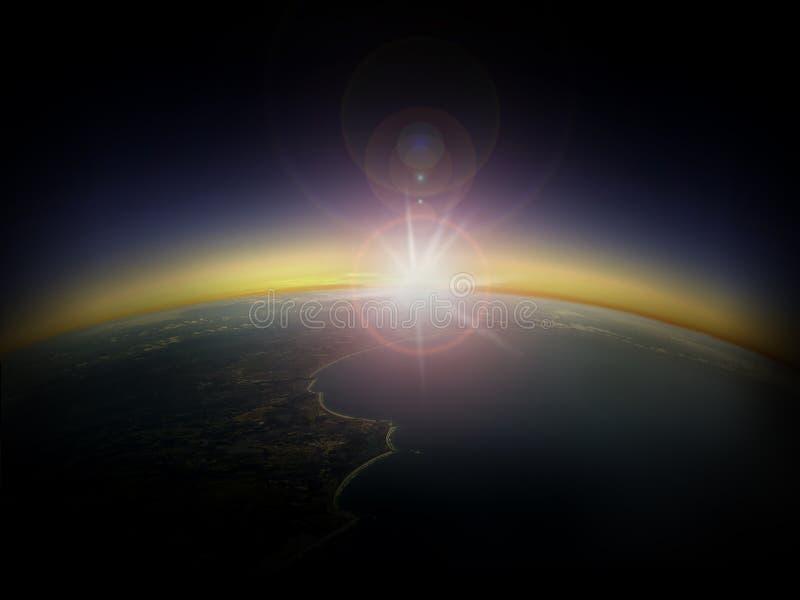 Widok z lotu ptaka wschód słońca nad Australia 2 obraz stock