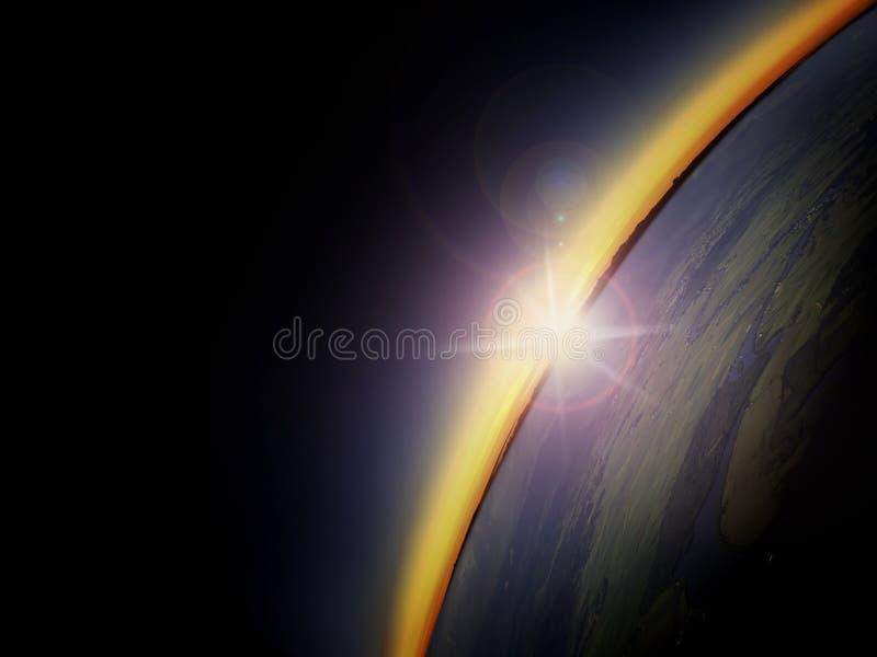 Widok z lotu ptaka wschód słońca nad wsią obrazy stock