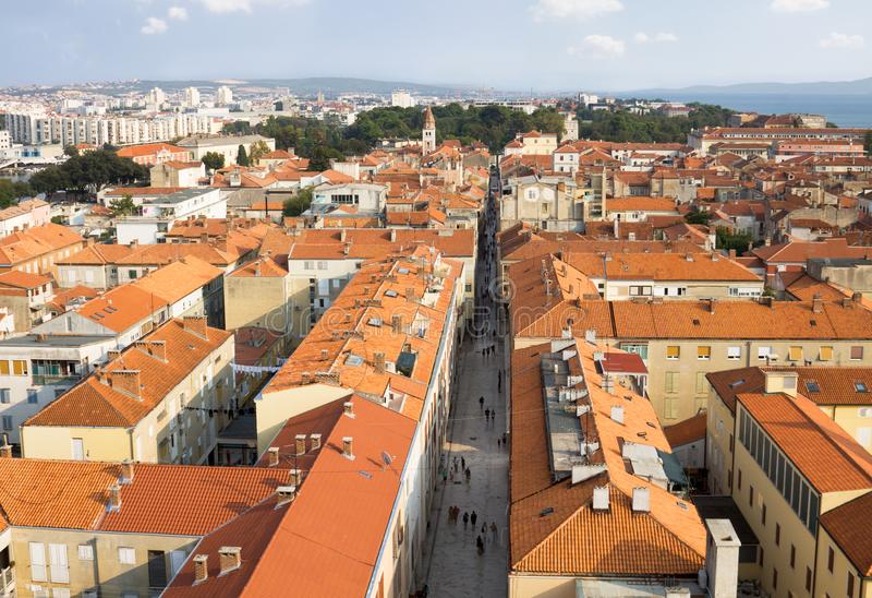 Widok z lotu ptaka Zadar obrazy royalty free
