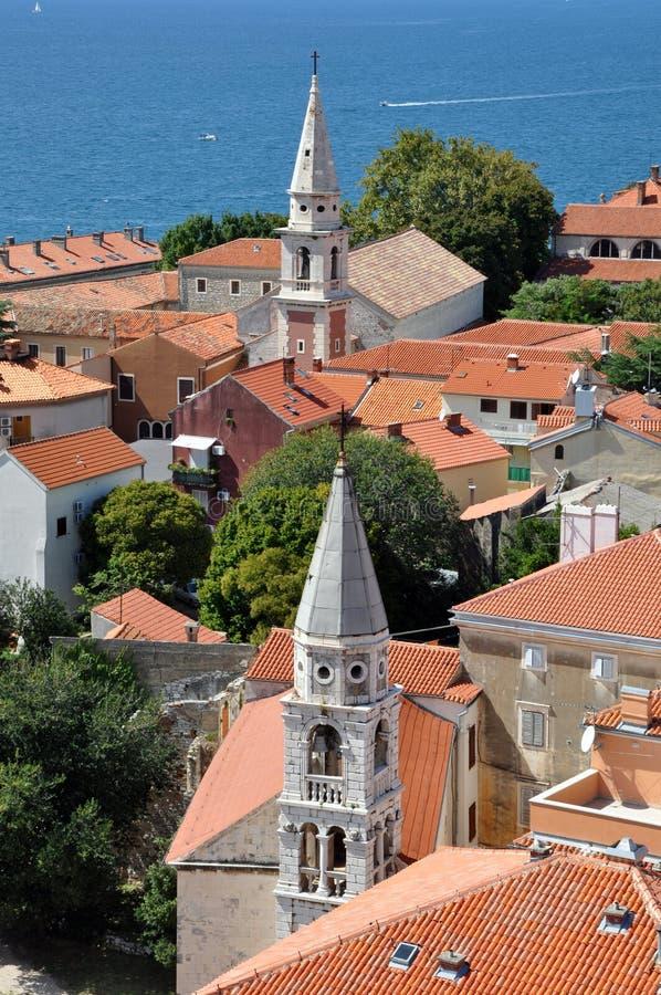 Widok z lotu ptaka Zadar, Chorwacja obraz stock