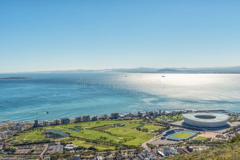 Widok z lotu ptaka Zielony punkt w Kapsztad obrazy stock