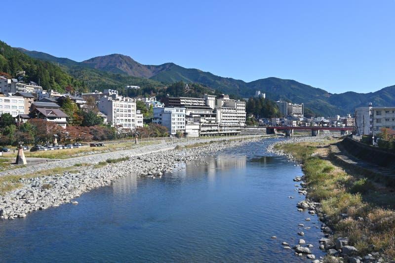 Widok z pociągu Hida Express, Japonia obraz stock