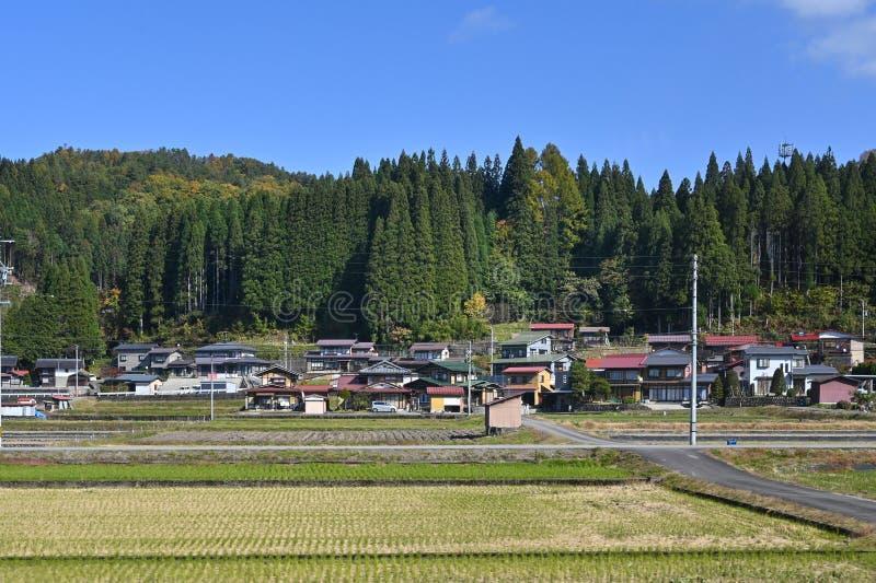 Widok z pociągu Hida Express, Japonia obrazy stock