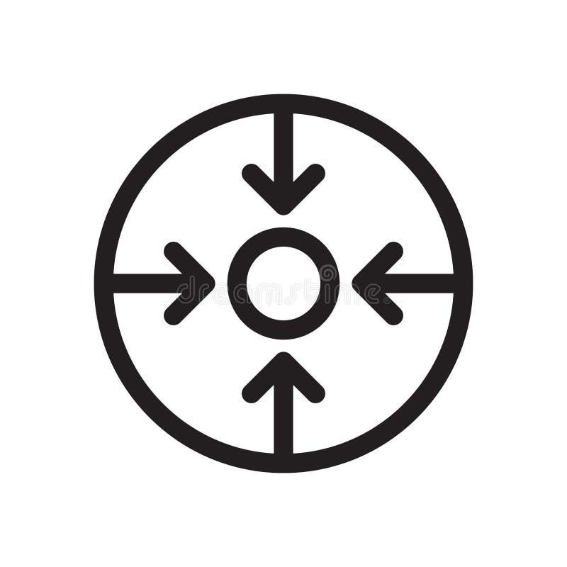 Widok z strzały ikoną Element nawigacja dla mobilnego poj?cia i sieci apps ikony royalty ilustracja
