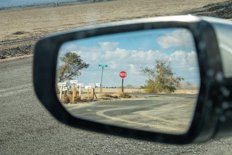widok z tyłu lustra fotografia stock