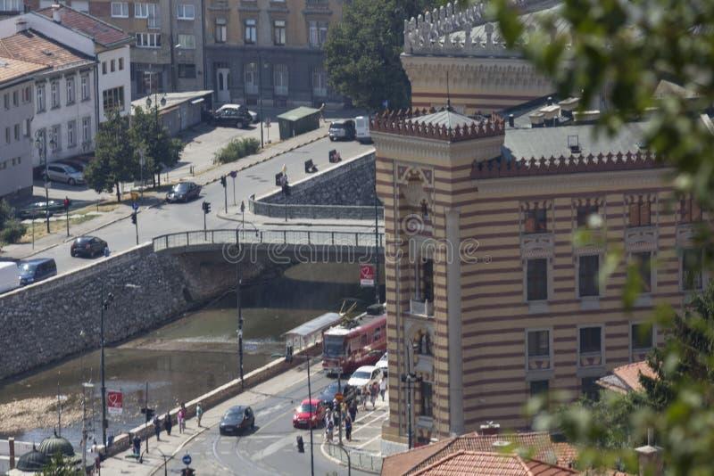 Widok z wierzchu Żółtego fortecy urząd miasta zdjęcie stock