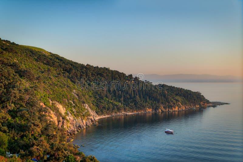 Widok z wierzchu gór Buyukada wyspa, Marmara morze, Istanbuł, Turcja zdjęcia royalty free