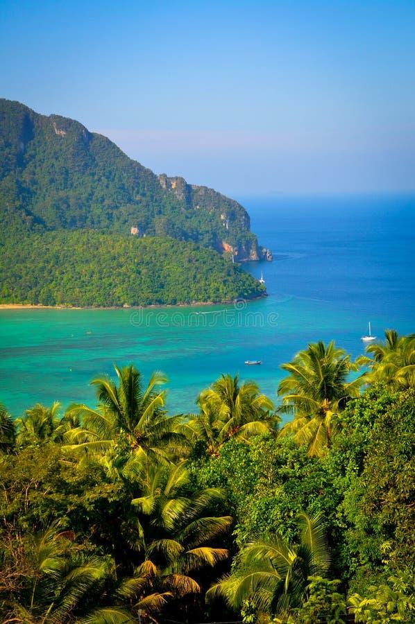 Widok z wierzchu Ko Phi Phi Don obraz stock