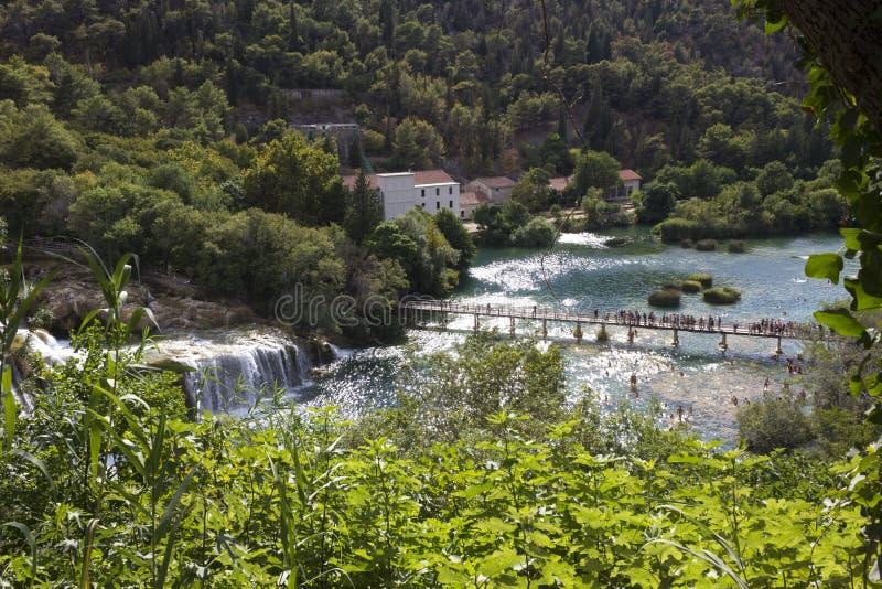 Widok z wierzchu naturalnego parka Krka w Chorwacja zdjęcia royalty free