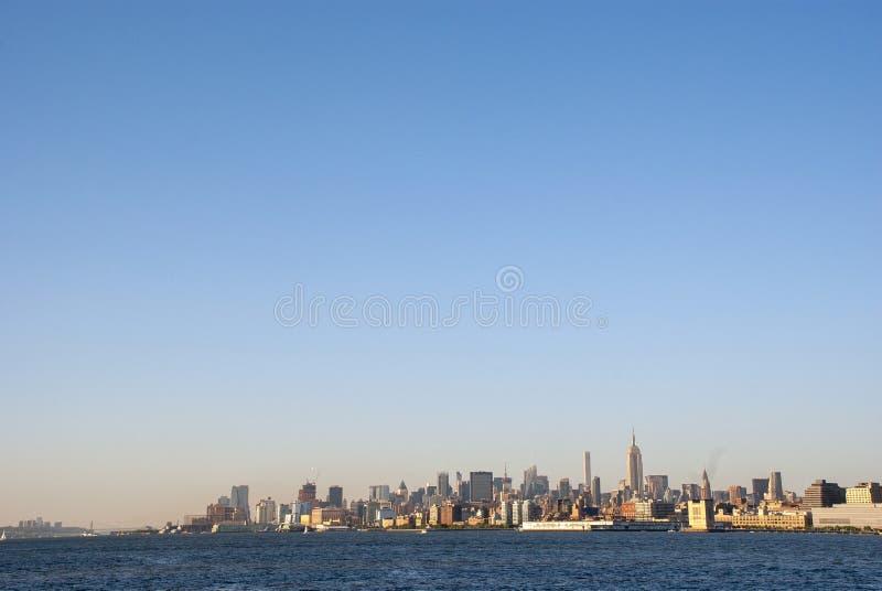 Widok zachodu słońca na Midtown i na Manhattanie zdjęcia royalty free