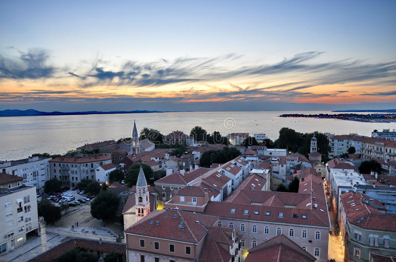 Widok Zadar, Chorwacja obrazy royalty free
