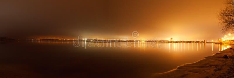 Widok Zaporoska Hydroelektryczna stacja obrazy stock
