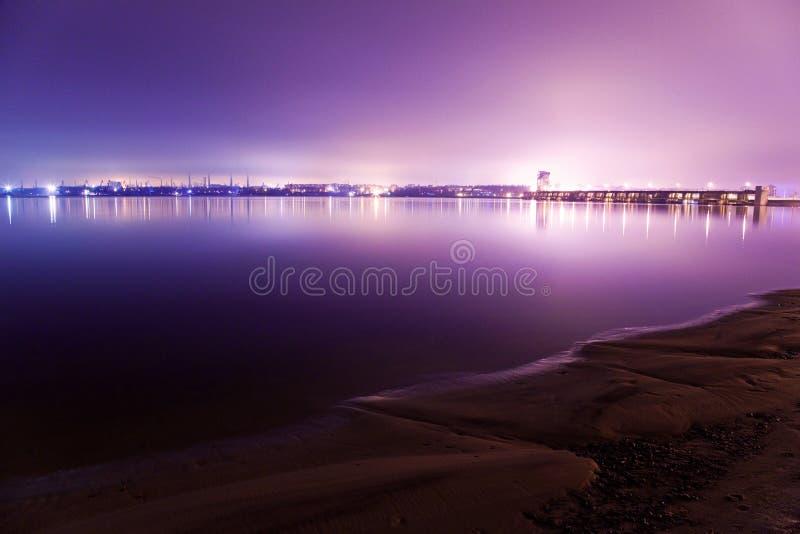Widok Zaporoska Hydroelektryczna stacja obrazy royalty free