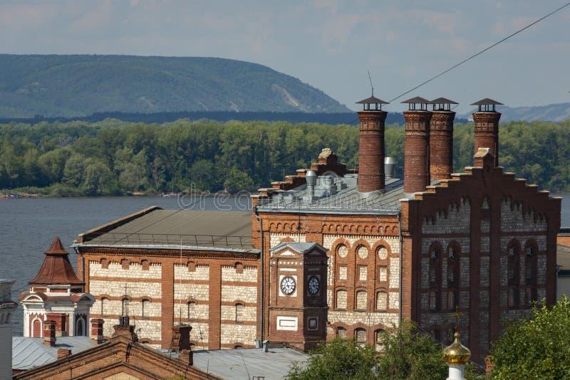 Widok Zhigulevsky browar w Samara Fabryka budował w 1881 obraz royalty free