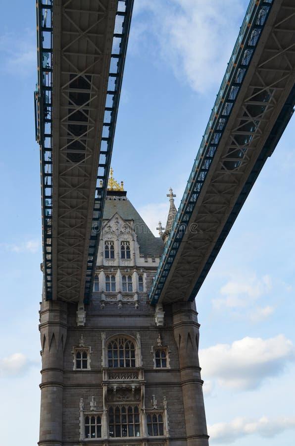 Widok zwyczajni przejścia Góruje most obrazy stock