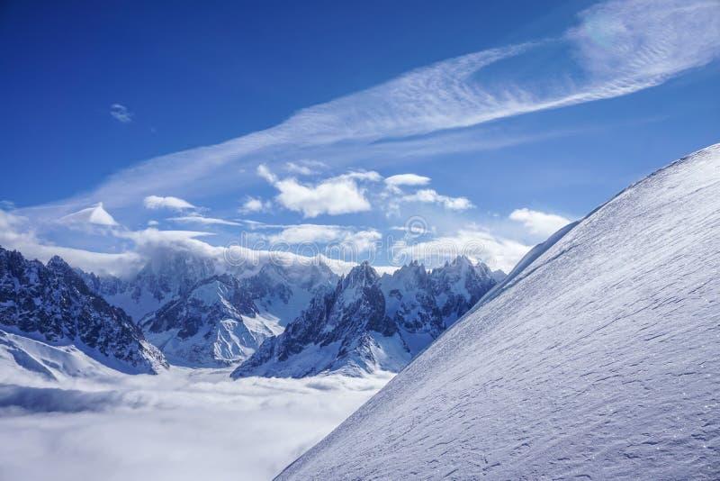 Widoki górscy w Chamonix zdjęcia stock