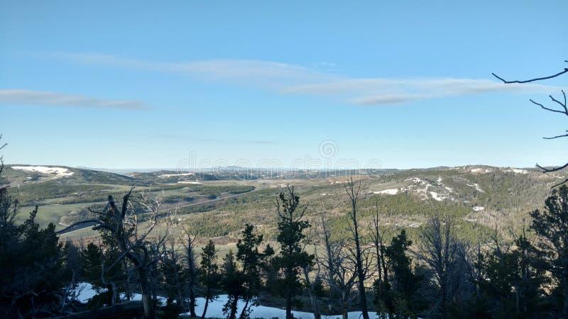 Widoki górscy w Wyoming zdjęcie royalty free