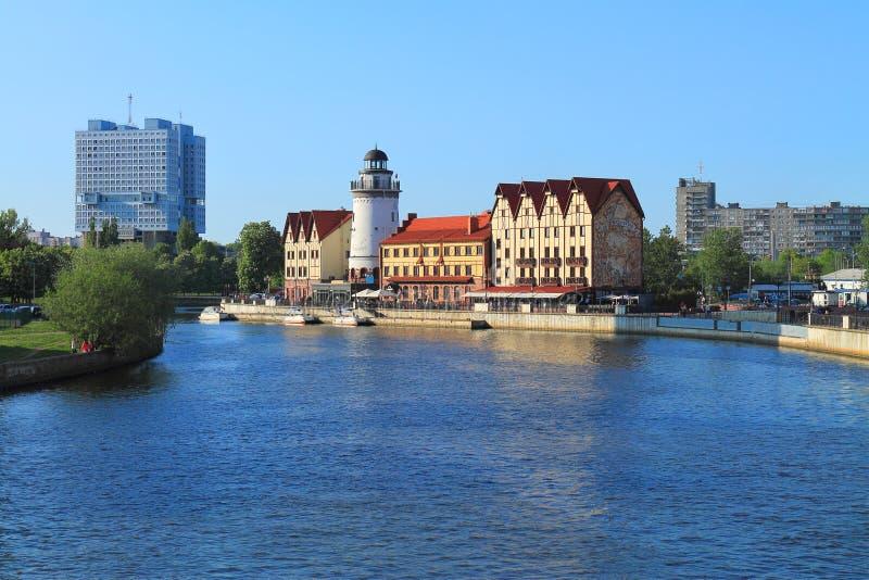 Widoki Kaliningrad - rybia wioska zdjęcia royalty free