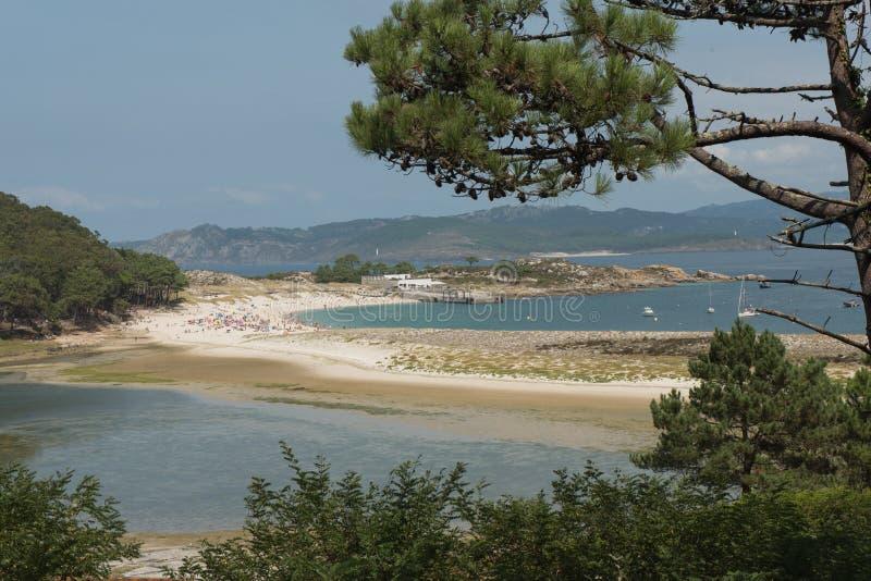 Widoki nad Rodas plażą obrazy stock