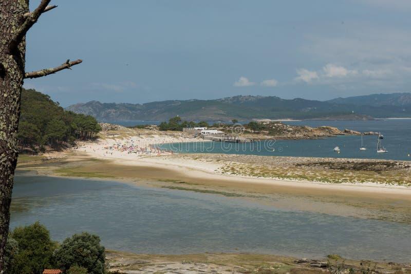 Widoki nad Rodas plażą zdjęcie royalty free