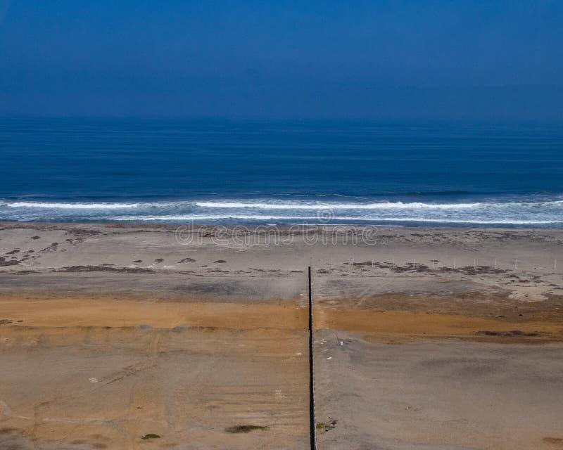 Widoki ocean w Południowym Peru zdjęcie royalty free