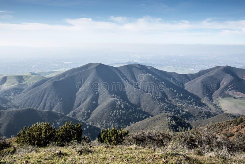 Widoki od Eagle szczytu, Mt Diablo stanu park, Północnego Kalifornia krajobraz zdjęcia royalty free