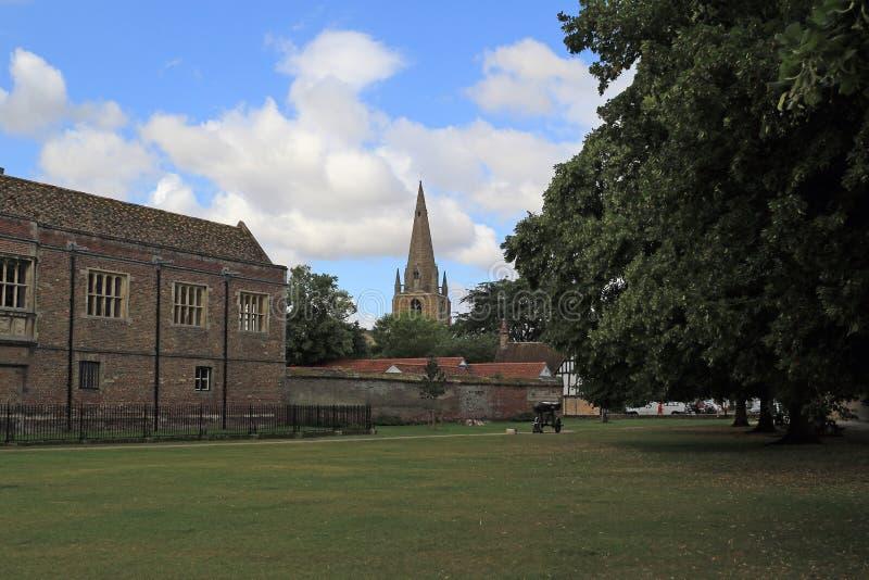 Widoki od Ely katedry zdjęcia royalty free