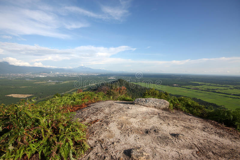 Widoki od góry Semanggol wysokiego szczytu obrazy royalty free