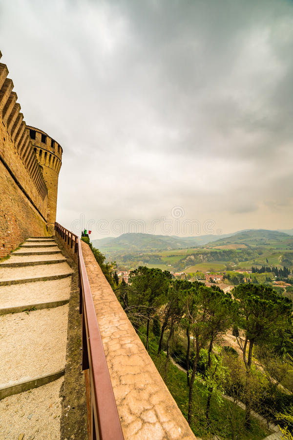 Widoki od ramparts forteca obraz stock