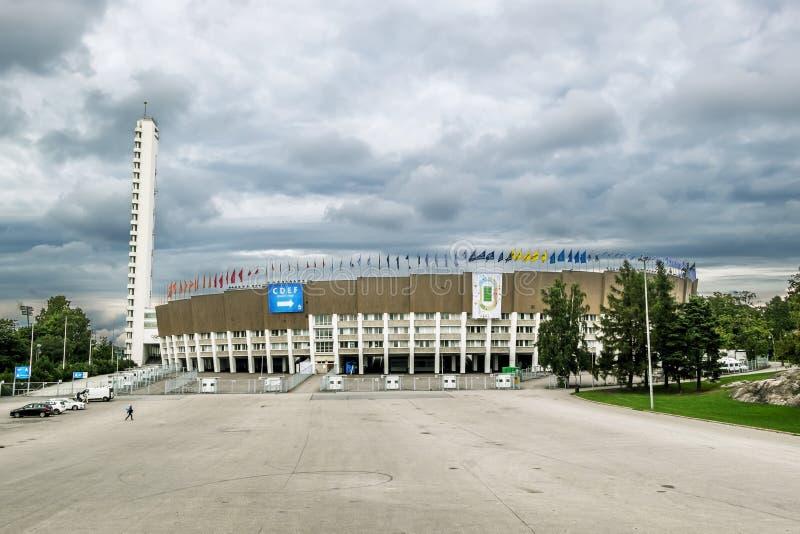 Widoki Olimpijski stadium w Helsinki Finlandia zdjęcia stock