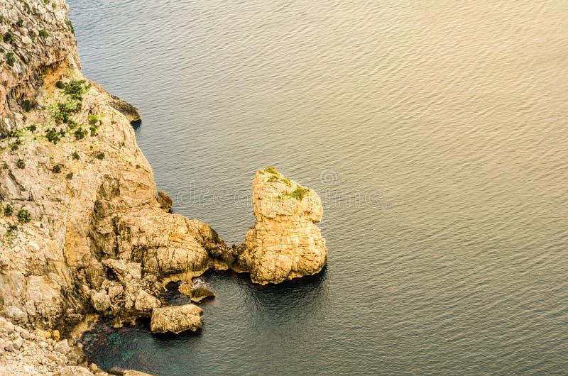 Widoki peleryny formentor, majorca, wyspy balearów, hiszpania 6 obrazy stock