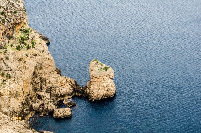 Widoki peleryny formentor, majorca, wyspy balearów, hiszpania 7 obraz stock