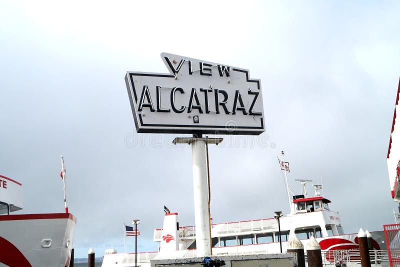 Widoku Alcatraz znak fotografia stock